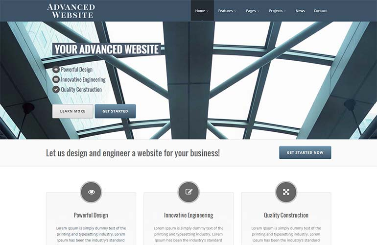 Advanced Website